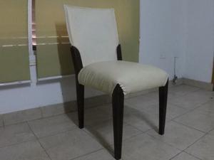 Venta juego de 6 sillas de madera y cuero