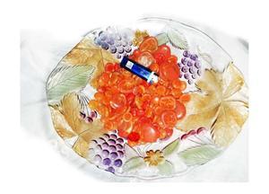 centro de mesa o frutera (acompañan esfera naranjas