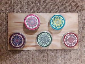 Velas aromáticas en Latas reutilizables con mandalas