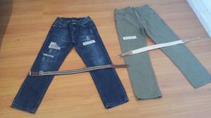 Vendo pantalones niño talle 10 y cintos, nuevos!