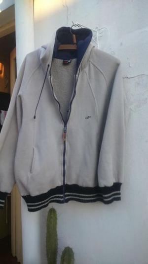 Campera de algodon frizada unisex con capucha - Talle L