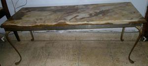 Mesita de bronce y marmol 1 x 0,4 x 0,5 mt EXCEL ESTADO