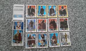 Vendo lote de 159 tarjetas de star wars diferentes