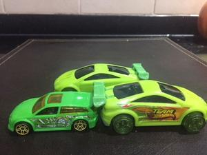 3 autos Hot Wheels a Friccion