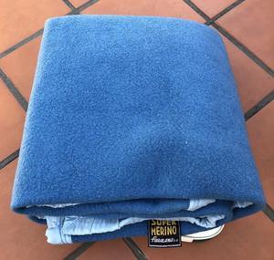 Frazada de lana Super Merino de 2 plazas y media
