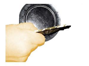 roseta para lampara de techo -arruinada- a restaurar