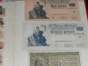 Vendo colección de billetes y estampillas antiguas