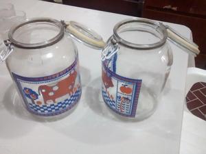 Frascos de vidrio grandes