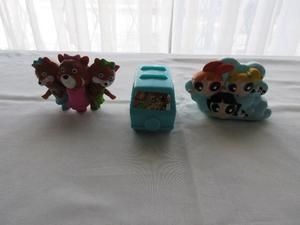 Lote de 3 juguetes variados de Mac Donald's y Burguer King,