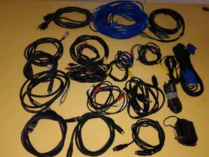 Lote de cables para audio y video (moron)