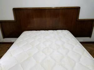 Vendo cama de 2 plazas más colchón y respaldo