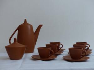 Juego de Pocillos de café Cerámica Color Marrón, 14
