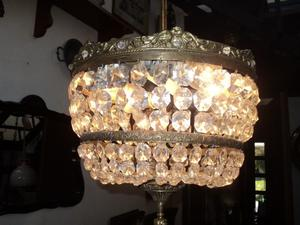 Antigua lámpara colgante estilo imperio. Antigua Saudade