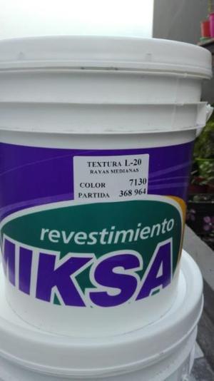 Revestimiento texturado plastico