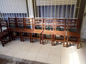 8 sillas de algarrobo firmes