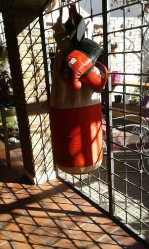 Bolsa de boxeo + guantes