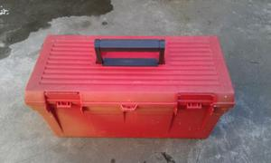 Caja plastica.con bandeja. Para varios usos.
