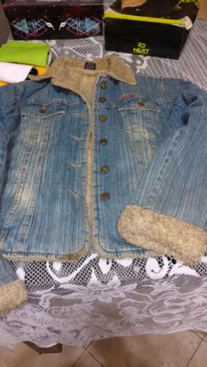 Campera jeans y corderito
