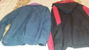 Campera talla L impermeable con capucha