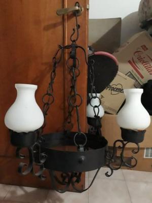 lampara Araña De hierro forjado 4 Luces