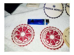 8posavasos como recuerdos o souvenires de hotel sudafrica-