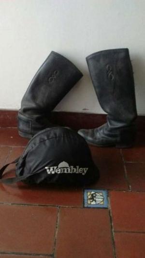 Botas de equitación mujer talle 37 y casco !!