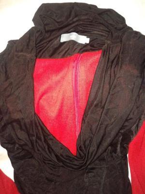 Tunica,TRAMP, Blusa, larga ajustada Mujer jersey negro talle