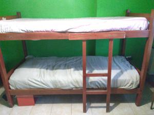 Vendo cama cucheta de madera!