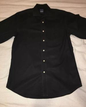 Camisa Hombre Daniel Hechter Paris Negra Talle 39