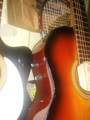 Guitarras criollas acústicas con corte control de volumen y