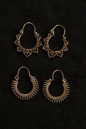 Aros de India, bronce.
