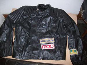CAMPERA CUERO Moto,Chaleco y guantes con Piel interior todo