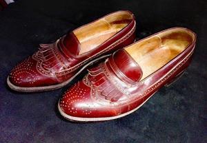 Zapatos mocasines cuero 43