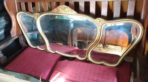 Antiguo espejo biselado de estilo