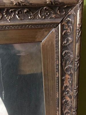 Espejo Vintage con marco de madera