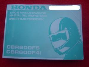 MANUAL MOTO HONDA CBR 600 FS/F4i JAPAN ÚNICO
