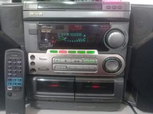 EQUIPO DE MUSICA MINICOMPONENTE AIWA 2 PARLANTES NSX550