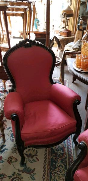 Par de sillones Colonial inglês espetaculares