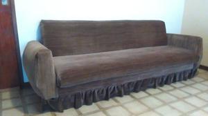 Sofa cama plaza y media, de pana