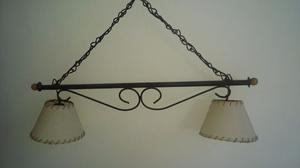Vendo lámpara de hierro - Muy buen estado!