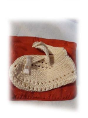 Un soquetito de bebe! al crochet!
