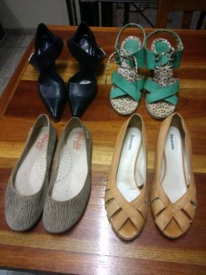 Vendo Zapatos y Sandalias 4 Pares