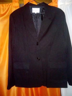 Saco de vestir formal color negro talle 52