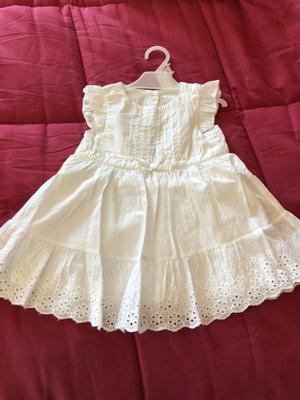 Vestido blanco 6 meses