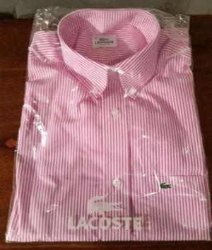 Camisa rayada rosa Lacoste - Nueva