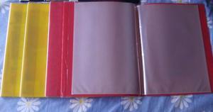 Lote de 6 Carpetas A4 de 20 folios cada Carpeta