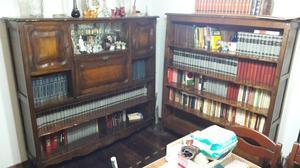 Antiguo Par De Bibliotecas Estilo Provenzal #