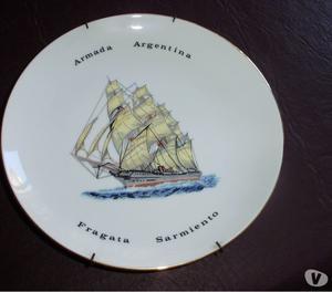 Plato De Porcelana Tsuji Fragata Sarmiento Armada Argentina
