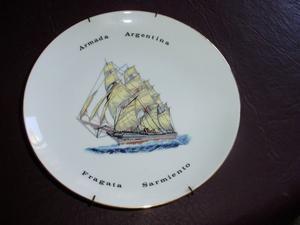Plato de Porcelana Tsuji,Fragata Sarmiento Armada Argentina