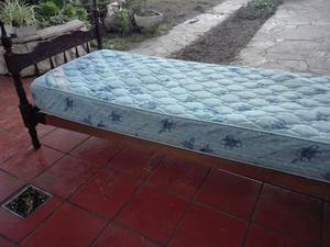 Único! Cama antigua + colchón Suavestar 1 plaza